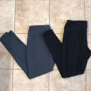 2 pair workout leggings